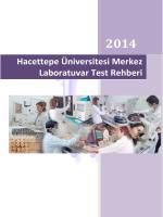 Hacettepe Üniversitesi Merkez Laboratuvarı Test Rehberi