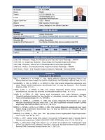 KİŞİSEL BİLGİLER Adı Soyadı Dr. Ali TAMER Ünvan Müdür Telefon