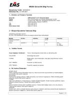 MSDS Güvenlik Bilgi Formu