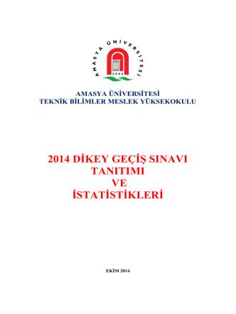 2014 dikey geçiş sınavı tanıtımı ve istatistikleri