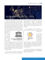 ULUSLARARASı ıŞıK yıLı - 2015