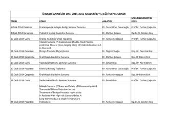 2014-2014 Akademik Yılı Eğitim Programı