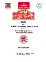 2014 TIRMANMA EK KURALLAR