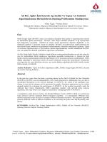 Ad Hoc Ağları İçin Kuyruk Ağ Analizi Ve Yapay Arı Kolonisi