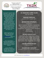 13. başvuru çağrı ilanı - Tarım ve Kırsal Kalkınmayı Destekleme