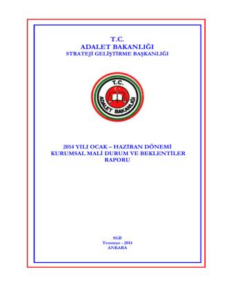 Bakanlığımız 2014 yılı Ocak - Strateji Geliştirme Başkanlığı