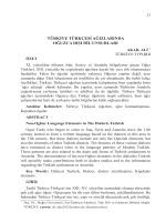 türkiye türkçesi ağızlarında oğuzca dışı dil unsurları