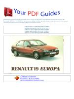 Kullanma talimati RENAULT R19 EUROPA