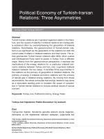 Political Economy of Turkish-Iranian Relations: Three