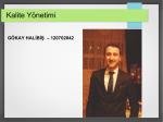 Kalite Yönetimi - Yazılım Defteri