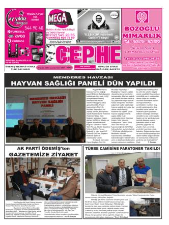 27.12.2014 Tarihli Cephe Gazetesi