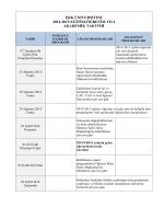 ışık üniversitesi 2014-2015 eğitim