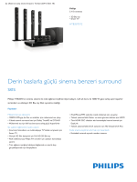 Product Leaflet: 3D Blu-ray Smart TV 5.1 Ev sineması