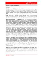 Sektör ve Şirket Haberleri