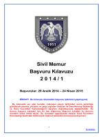 29 Aralık 2014 – 24 Nisan 2015 - insan kaynakları değerlendirme