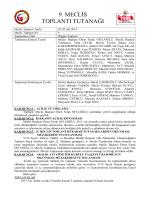 Ocak 2014 Meclis Tutanağı - Rize Ticaret ve Sanayi Odası