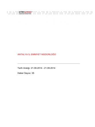 21.09.2014 - 21.09.2014 Haber Sayısı: 35