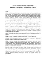 İnteraktif Oturum Tutanağı - Çevresel Gürültü Direktifinin Uygulama