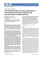 Yaş, dental plak miktarı, oral hijyen uygulamaları