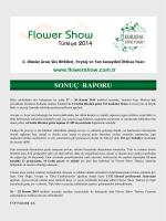SONUÇ RAPORU - Flower Show Turkey