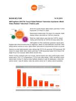 BASIN BÜLTENİ 14.10.2014 IAB İngiltere 2014 İlk Yarıyıl Dijital