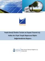 Yayla Enerji Üretim Turizm ve İnşaat Ticaret A.Ş. Değerlendirme