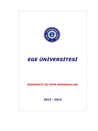 2014 Öğretim Yılı Üniversite İçi Spor Müsabakaları