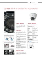 US-4953 700 TVL Verifokal Lensli ICR IR Dome