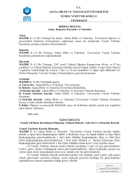Yemek Yürütme Kurulu Yönergesi - Adana Bilim ve Teknoloji
