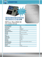 ZKTeco İface800 ID