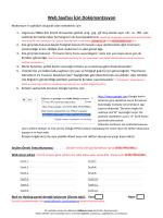 Web Sayfası İçin Dokümantasyon