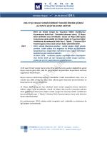 2014 Yılı Emlak Vergisi Birinci Taksidi Ödeme Süresi 31 Mayıs 2014