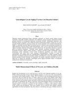 Yoksulluğun Çocuk Sağlığı Üzerine Çok Boyutlu Etkileri Multi