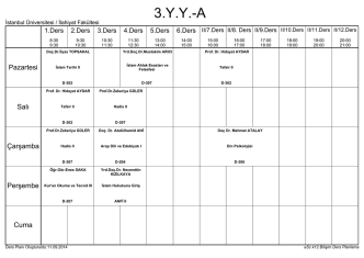 2014 - 2015 g\334z donemı ders programı 21.08