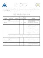 Fen Bilimleri Enstitüsü Lisansüstü Öğrenci Alım İlanı dosyası