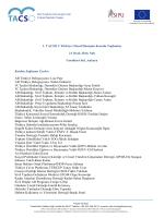TACSO Türkiye 1. Ulusal Danışma Kurulu Toplantısı Raporu