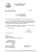 Müdürlüğümüzün konu ile ilgili 27/11/2014 tarih ve 5790360 sayılı