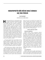 hematopoetik kök hücre nakli sonrası geç yan etkiler