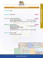 23 NİSAN 2014, ÇARŞAMB A - 50. Ulusal Diyabet Kongresi
