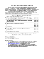 Staj Takivimi ve Açıklamaları - Sütçüler Meslek Yüksekokulu
