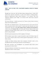 2014 yılı mali tatil uygulaması - Ege Denetim ve Mali Danışmanlık