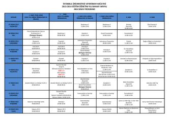 2013-2014 Eğitim-Öğretim Yılı Bahar Yarıyılı Sınav Programı