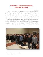 """""""Türk İslam Ülküsü ve Türk Dünyası"""" Konferansı İlgi"""
