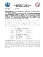karar 2014/003 - Afyon Kocatepe Üniversitesi