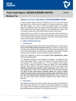 Fiyat Tespit Raporu - Yatırım Finansman Menkul Değerler