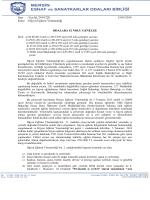 Sayı : Yaz.İşl./2014/220 15/05/2014 Konu : Hijyen Eğitimi