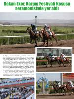 Bakan Eker, Karpuz Festivali Koşusu seramonisinde yer