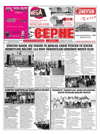 23.04.2014 Tarihli Cephe Gazetesi