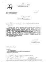 Müdürlüğümüzün konu ile ilgili 25/12/2014 tarih ve 6897917 sayılı