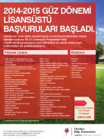 Bilgi Lisansüstü Programları - Anadolubank